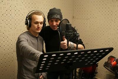 Артур Беркут на записи рок-оперы Сокровище Энии группы Эпидемия